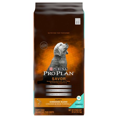 Purina Pro Plan Probiotics Dry Puppy Food Savor Shredded Blend