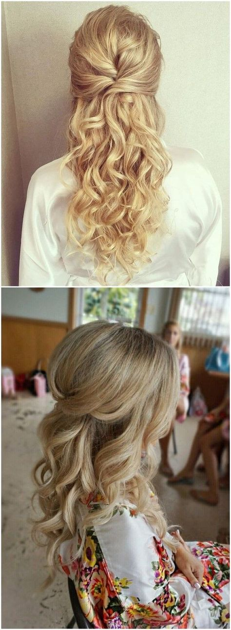 22 Half Up and Half Down Wedding Hairstyles to Get You Inspired - WeddingInclude