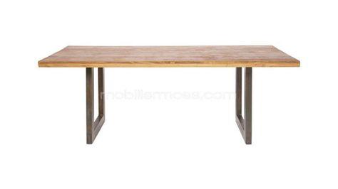 Table Industrielle Ray Bois Metal Vintage Design Mobilier