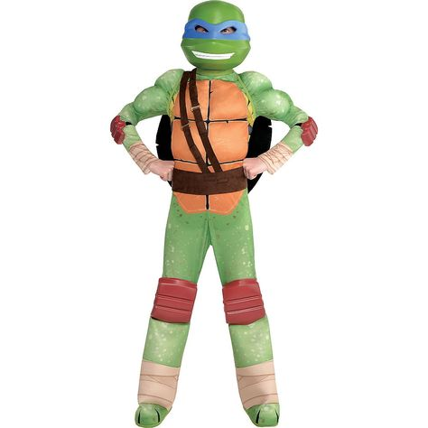 Boys Leonardo Muscle Costume