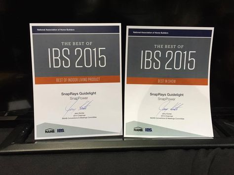 SnapPower won Best In Show at the International Builders' Show! Starting off 2015 right!