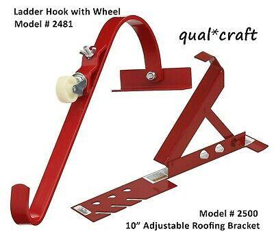 Qualcraft 2481 Ladder Hook W Wheel Durable Steel Roof Top Ridge Acro Ladder 2500 Ebay In 2020 Ladder Hooks Aluminium Ladder Steel Manufacturers