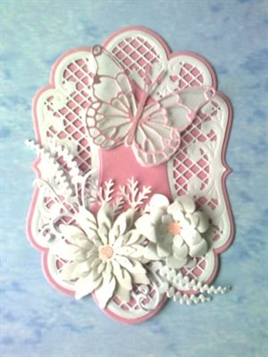 Beautiful Marianne Design dies and Memory Box butterfly