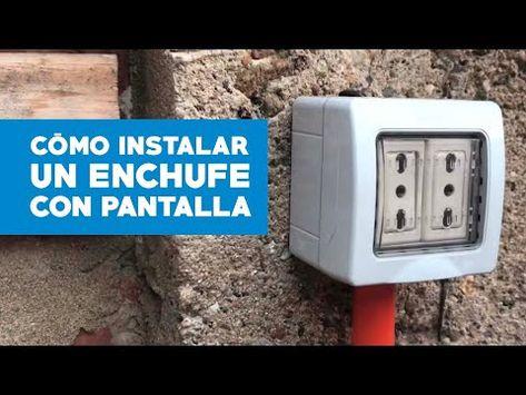 Como Instalar Un Enchufe Para Exterior Youtube Enchufe Instalacion Electrica Instalacion Electrica