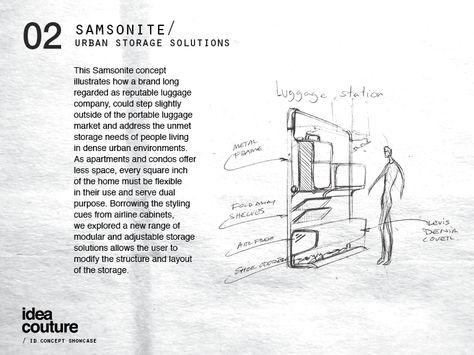 Idea Couture / Industrial Design Concept Showcase // Samsonite .