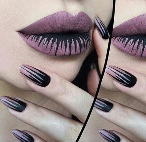 Uñas y labios para estar guapa este Halloween