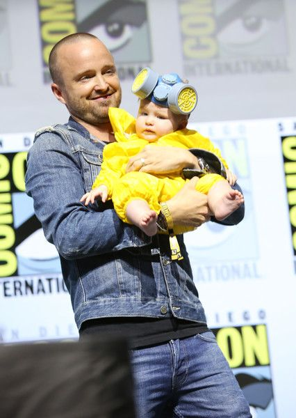 Aaron Paul Photos - Aaron Paul and Story Annabelle Paul attend the Breaking Bad 10th Anniversary Celebration with AMC during Comic-Con International 2018 at San Diego Convention Center on July 19, 2018 in San Diego, California. - AMC At Comic Con 2018 - Day 1