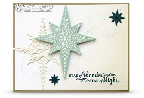 CARD: Gorgeous Sparkly Star of Light Card | Stampin Up Demonstrator - Tami White…