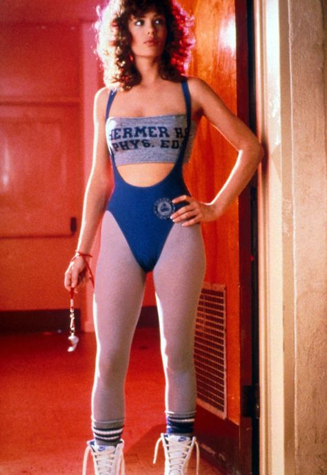Kelly LeBrock in Weird Science Costume designer – Marilyn Vance. Kelly LeBrock in Weird Science Costume designer – Marilyn Vance.