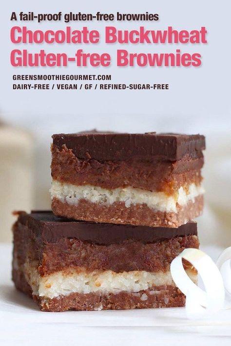 Fudge Brownie Walnut Buckwheat Bars No Bake Vegan Dairy Free