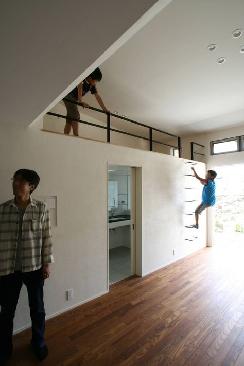 Garden Terrace House kids climbing wall in a living room : by…