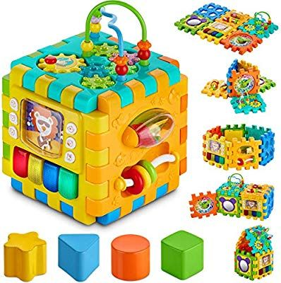 Amazon Com Babyseater Baby Activity Cube 6 In 1 Multi Assembly Activity Square For Babies 10m Bpa Free Play Cube For Infants Toddlers Activity Cube Baby