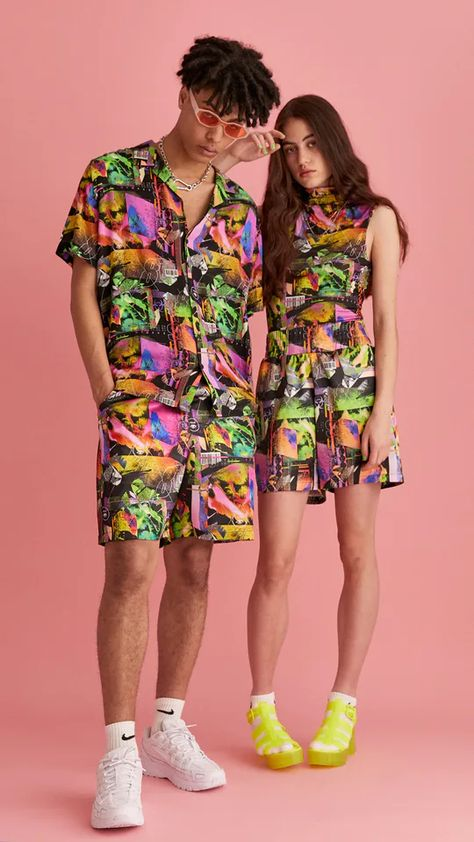 Unisex printed boxing short : Skirts & Trousers : Collusion