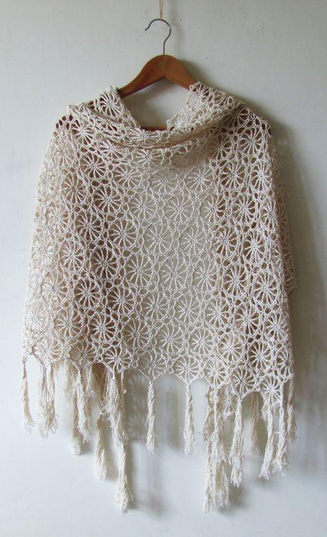 Crochet Shawl Pattern Solstice Shawl circle motif shawl | Etsy