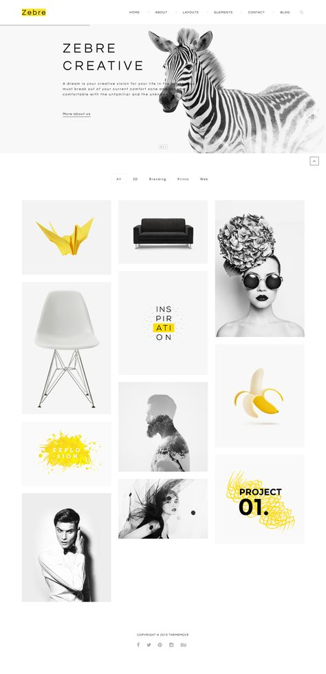 Zebre - Minimal, Agency & Porfolio WordPress Theme #website Download: http://themeforest.net/item/zebre-minimal-agency-porfolio-wp-theme/12528341?ref=ksioks