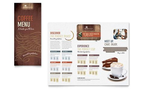 Coffee Shop Menu Template Design by StockLayouts Projects to Try - free cafe menu templates for word