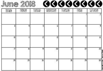 Freebie 2018 2019 Calendar And Monthly Planner Calendar Printables February Calendar Printable Calendar Template