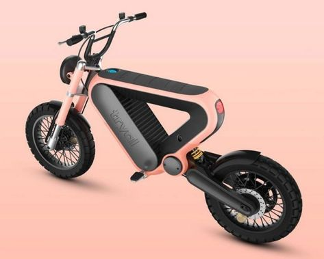 The Tryal triangular electric motorcycle | WordlessTech