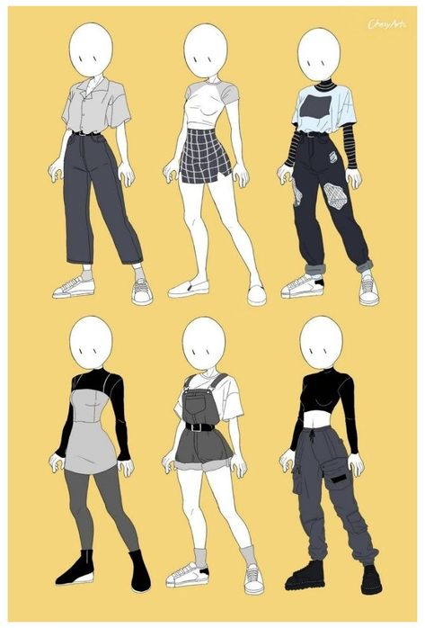 Teen Fashion Outfits, Anime Outfits, Grunge Outfits, Girl Outfits, Cute Outfits, Super Hero Outfits, Edgy Outfits, Art Drawings Sketches Simple, Cute Drawings