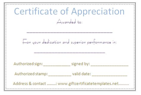 Elegant certificate of appreciation template - Certificate - certificate of appreciation words