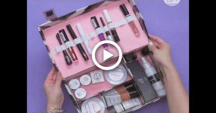 Diy Makeup Organizer Made From Shoe Box Makeup Diy Makeup Diy