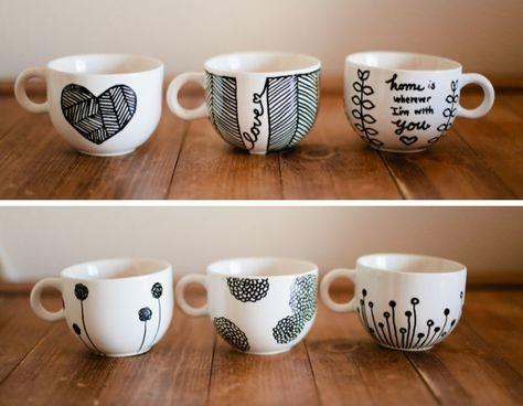 1001 Ideen Und Inspirationen Wie Sie Porzellan Bemalen Diy Becher Porzellan Bemalen Und Tassen Bemalen