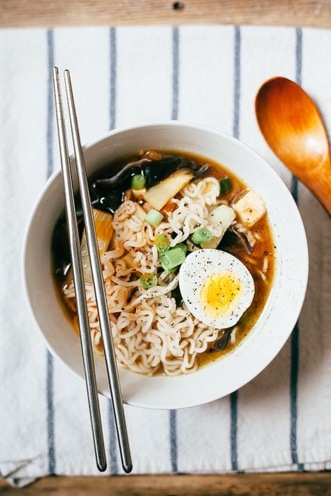 Homemade Ramen. Yeah, me no like eggs but hey anything that is cheap, easy, and better than the norm
