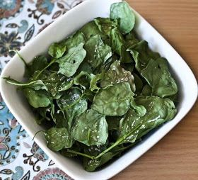 Baked Spinach Chips - these are fantastic. I do this with kale and it's just as good as kale. Even my non veggie eating 2 yr old gobbles them up!