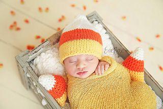Candy Corn Beanie Pattern By Catherine Anfield Baby Hat Patterns Photo Prop Patterns Kids Knitting Patterns