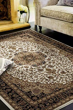 Persian Rugs 2652 Oriental Ivory 5 X 7 Area Rug Carpet Large New