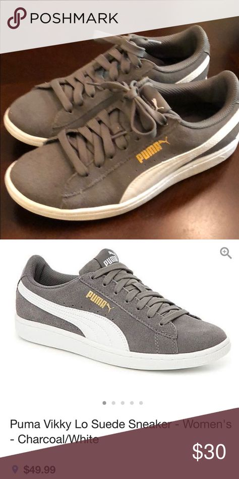 Puma sneakers size 6   Suede sneakers