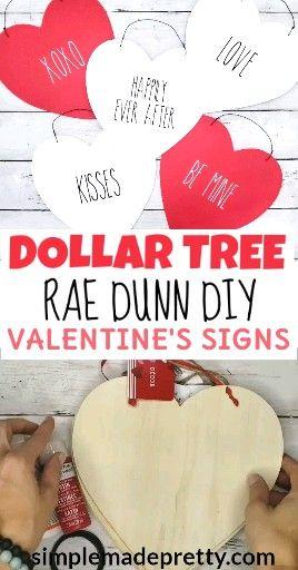 Rae Dunn Valentine's Day, Rae Dunn Valentine's Signs, Rae Dunn DIY
