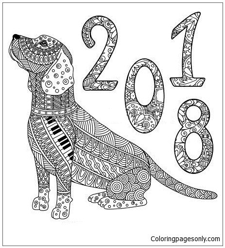 New Year Of The Dog Coloring Page Http Coloringpagesonly Com Pages New Year Of The Dog Dog Coloring Page New Year Coloring Pages Coloring Pages
