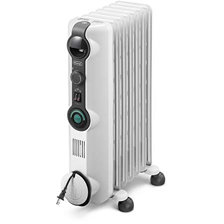 Delonghi Comfort Temp Full Room Radiant Heater Light Gray Radiant Heaters Portable Heater Oil Filled Radiator