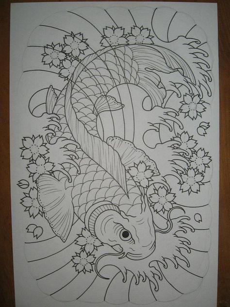 Blessed structured japanese koi fish tattoo #japanesekoifishtattoo