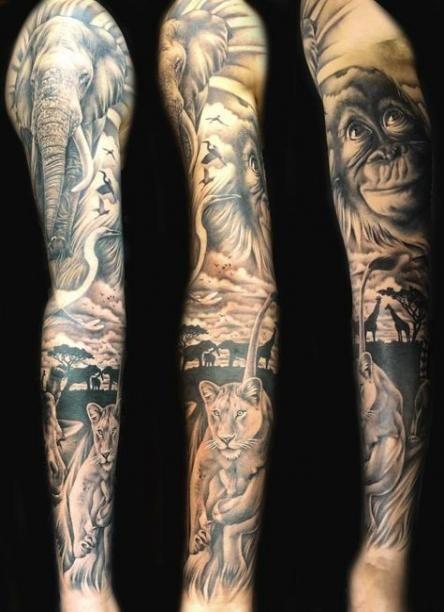 Tattoo Sleeve Elephant Tat 44 Super Ideas Full Sleeve Tattoos Tattoo Sleeve Designs Sleeve Tattoos
