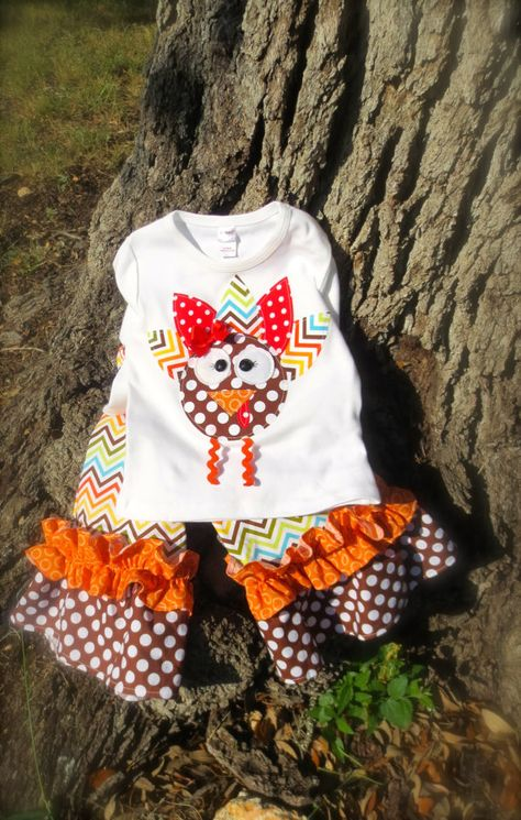 Wild Turkey... Shirt ONLY with Cute Appliqued Turkey, Size 0-3m to 10yrs on Etsy, $20.50