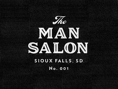 Logo design for The Man Salon. http://themansalon.net