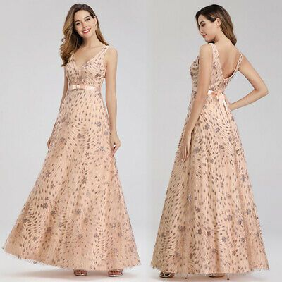 US Ever-Pretty V-Neck Cap Sleeve Floral Lace Evening Cocktail Prom Dresses Gowns