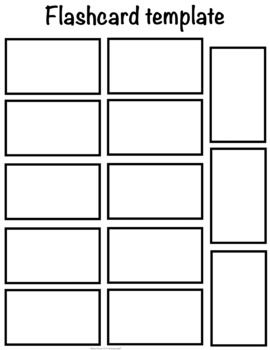 This Flash Card Template Has The Same Size Cards As The 10 Count Template But With An Additional 3 Cards Flash Card Template Flashcards Printable Graph Paper