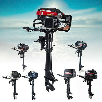 Details About 2 4 Stroke 3 5 4 3 6 6 6 5 7 Hp Boat Outboard Motor Engine W Air Water Cooling Outboard Motors Boat Engine Outboard