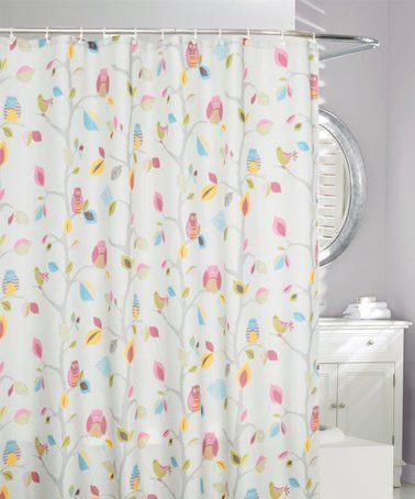 Pink Yellow What A Hoot Shower Curtain Curtains Shower