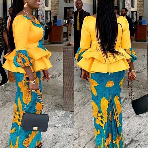 Check Out These Current Fashion Trends of  30 Latest Ankara Skirt and Blouse Styles for Ladies - photo