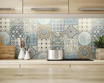 Tiles For Kitchen Backsplash Etsy Moroccan Tile Diy Kitchen Projects Kitchen Wallpaper