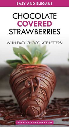 Chocolate Strawberries with Chocolate Lettering - Our favorite DIY chocolate covered strawberry recipe with plenty of unique decoration ideas! A homemade recipe perfect for the desserts table on Mothers Day Valentines Day Weddings Birthdays and other parties. #mothersday #valentinesday #chocolate  Chocolate Strawberries with Chocolate Lettering - Our favorite DIY chocolate covered strawberry recipe with plenty of unique decoration ideas! A homemade recipe perfect for the desserts table on Mother