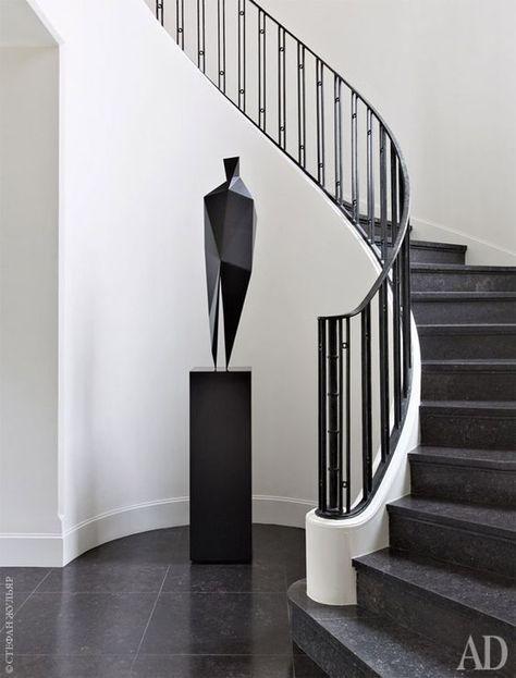 Escaleras Modernas De Concreto Con Vidrio Templado De Marmol Para Interiores Y De Madera Escaleras De Conc Staircase Design Staircase Railings Stairs Design