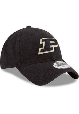 25385456c28 New Era Purdue Boilermakers Mens Black Core Classic 9TWENTY Adjustable Hat