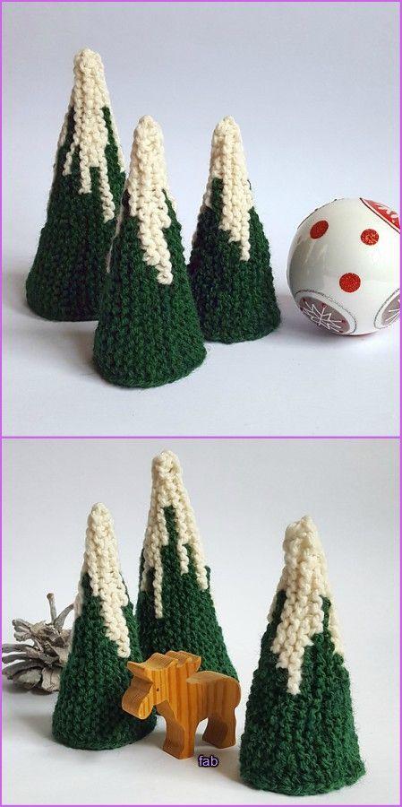 Knit Christmas Tree Free Patterns Free Knitting Pattern Knit