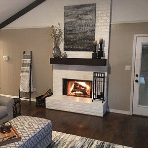 C Reagan Smith Added A Photo Of Their Purchase Brick Fireplace