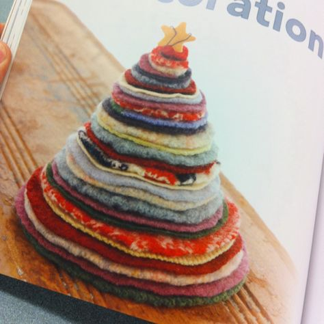 Felted wool Christmas Tree